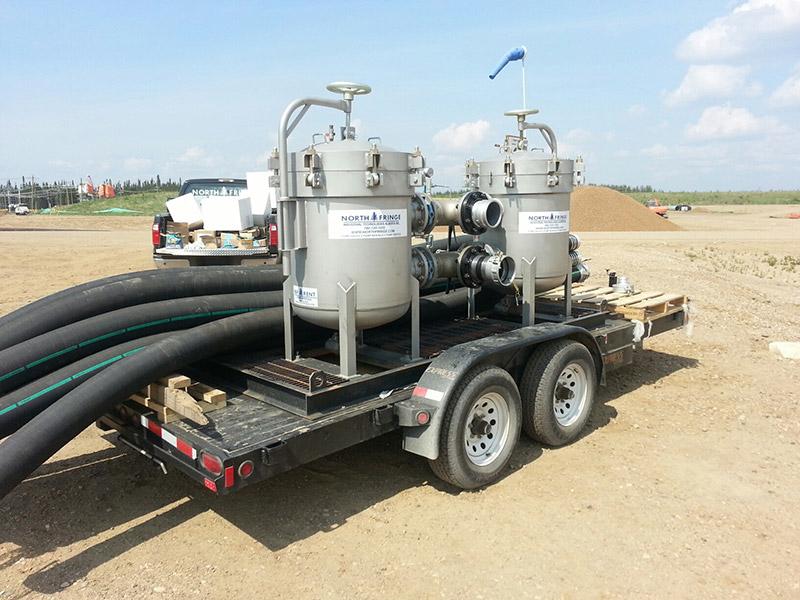 9 pod filter rental trailer